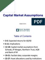 RBI Capital Market Assumptions