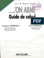 Béton Armé, Guide de Calcul. Bâtiment Et Génie Civil