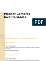 Planear compras inventariables en SAP