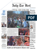 The Daily Tar Heel for March 22, 2010
