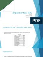 Dasar dan Implementasi MVC