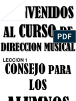 Bienvenidos Al Curso de Direccion Musical