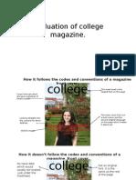 Evaluation of College Magazine
