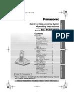 Panasonic Kx Tcd510bx