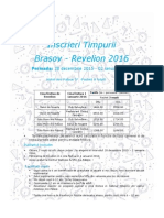 Brasov-Revelion 2016 - Inscrieri Timpurii