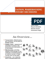 warehousing inventory and transportation with case study