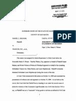 Balsam v. Trancos, Inc., et al. (San Mateo Sup. Ct.; Mar. 10, 2010)