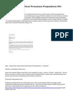 Kumpulan Contoh Surat Pernyataan Pengunduran Diri Murid Sekolah