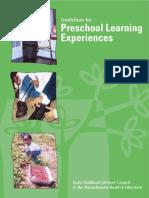 preschool early learning guidelines