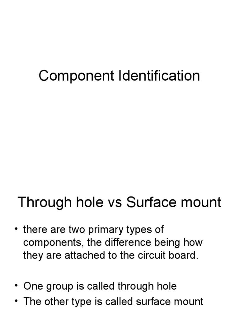 Component Identification | Resistor | Printed Circuit Board