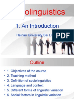 Sociolinguistics Language and Society