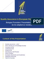 Quality Assurance in European Higher Education.
