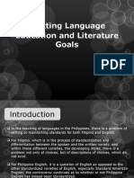 Setting Language Education and Literature Goals