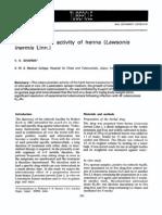 Tuberculostatic Activity of Henna (Lawsonia