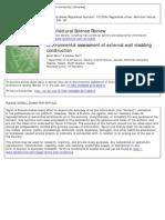 ASR - Environmental Assessment of External Wall Cladding Construction