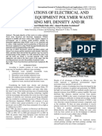 IDENTIFICATIONS OF ELECTRICAL AND ELECTRONIC EQUIPMENT POLYMER WASTE TYPES USING MFI, DENSITY AND IR