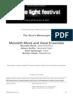 Meredith Monk - White Light Festival
