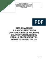 Guìa de Acceso a La Documentacion Contenida en Los Archivos Del IMDER Tuluá