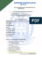 Estructura de Proyecto Investigación, Negocio y Trabajo Caso