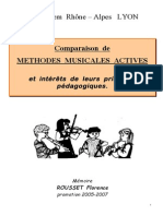 Rousset - Comparaison de METHODES MUSICALES ACTIVES