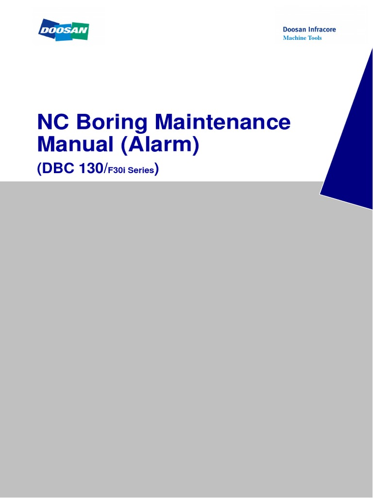 Doosan DBC130 Alarms Manual | Switch | Gear
