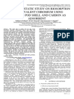 KINETIC AND STATIC STUDY ON BIOSORPTION OF HEXAVALENT CHROMIUM USING TAMARIND POD SHELL AND CARBON AS ADSORBENT