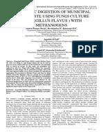 ANAEROBIC DIGESTION OF MUNICIPAL SOLID WASTE USING FUNGI CULTURE (ASPERGILLUS FLAVUS ) WITH METHANOGENS