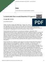 N. Scarpitta - La Laicità Dello Stato Secondo Benedetto XVI_parte1