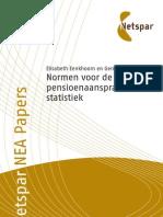 Normen voor de pensioenaansprakenstatistiek