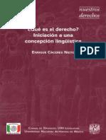 Caceres Nieto, Enrique - ¿Que Es El Derecho - Iniciacion a Una Concepcion Lingüística
