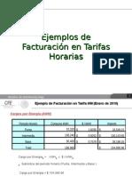 Tarifas-ejemplo Tarifa HM y HS
