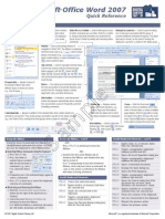 ZWord Quick Reference Sheet