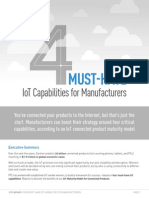 4 Must Have IoT Capabilities for Manufacturers