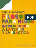 Accorinti, Stella - Filosofia Para Niños
