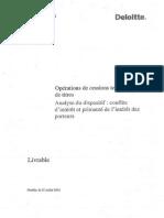 Les preconisations du cabinet Deloitte