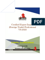 Vs-1018 Certified Import Export Professional Reading Material