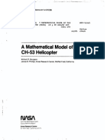 Mathematical Model of the CH-53 Helicopter