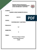 Estructuras de Codigo de trabajo, LOSEP y Seguro social