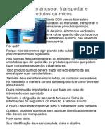 Cuidados Ao Manusear Produtos Químicos