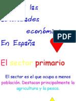 las actividades economicas de españa