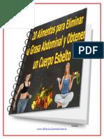 20 Alimentos Para Eliminar La Grasa Abdominal y Obtener Un Cuerpo Esbelto