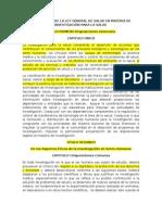 """Resumen Reglamento de La Ley General de Salud en Materia de Investigaciã""""n Para La Salud"""