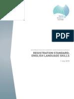 Dental Board Registration Standard English Language Skills 1 July 2015