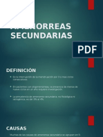 AMENORREAS SECUNDARIAS