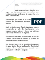 21 06 2011 - Banderazo a la reconstrucción de los bulevares Urano y Costa Verde; y construcción del colector pluvial.