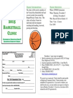 Fall 2015 Basketball Clinic