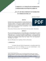A FILOSOFIA NO DIREITO E AS CONDIÇÕES DE POSSIBILIDADE PARA SE COMPREENDER OS FENÔMENOS JURÍDICOS