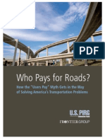 Who Pays for Roads? by U.S. PIRG - 2015