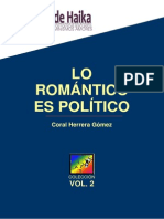 Lo Romántico Es Político. Vol II