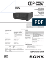 CDP-CX57 service manual